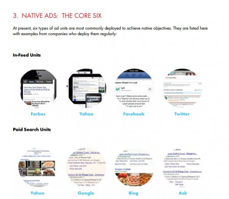 The Native Advertising Playbookのネイティブアドの分類